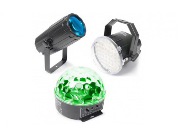 BeamZ Set lumini &#8211 Moon, Stroboscop si Star