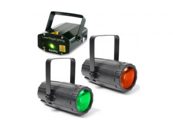 BeamZ Set Lumini: Moon Flower Duo  Laser rosu si verde