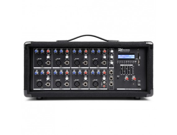 PDM-C805A Mixer activ 8x canale Bluetooth / USB Power Dynamics